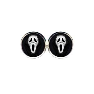 Scream Mask Earrings - Halloween, Horror